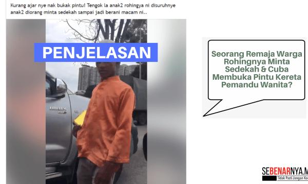 klip video tular seorang remaja warga rohingya meminta sedekah di batu tiga adalah video lama pada tahun 2017