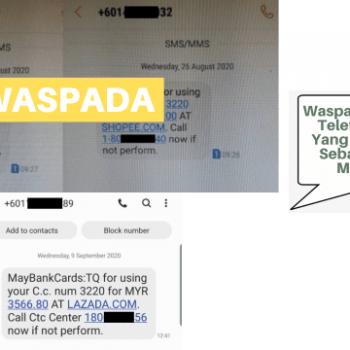 waspada sms dari telefon bimbit yang menyamar sebagai pihak maybank